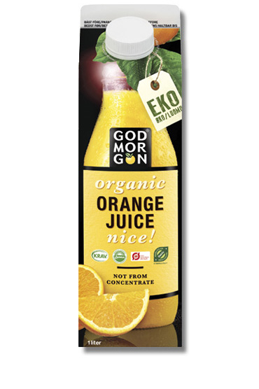 God Morgon Organic NFC Orange Juice Nice NFC 1, 0 L